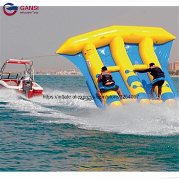 Funny water sport game 0.9mm PVC tarpaulin fly fish boat,exciting towable inflatable banana boat for sale