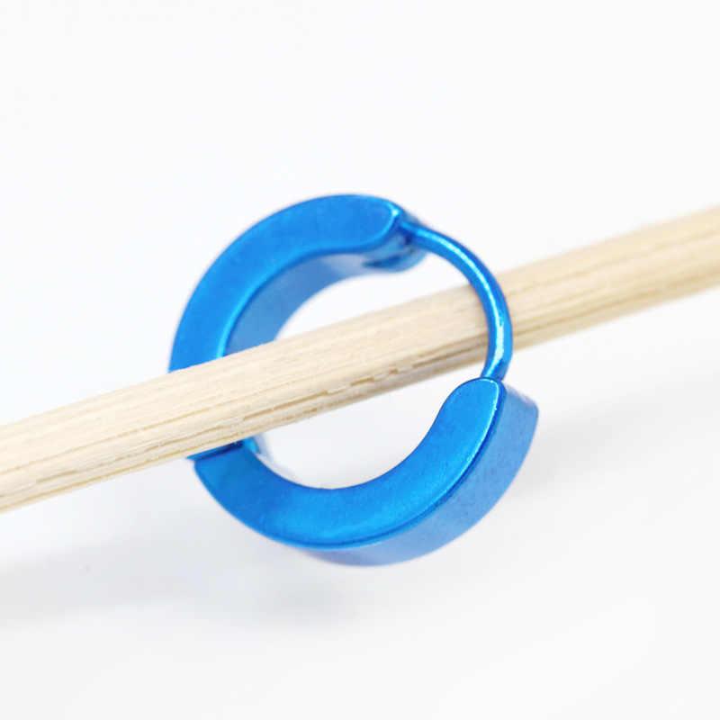Kecil Anting Anting-Anting Stainless Steel Piercing Bulat Huggies Anting-Anting untuk Wanita Pria Cincin Telinga Klip Warna Emas Anting-Anting Lingkaran ER100