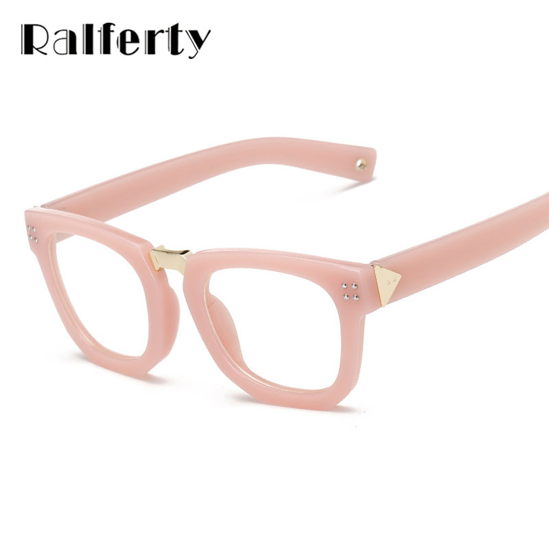 Ralferty Glasses Women Optical Frame Square Vintage Retro Eyeglasses ...
