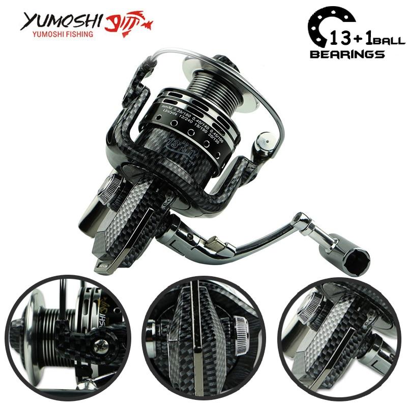 Yumoshi 1000-7000 13 + 1BB Feeder aluminium draadbeker Vissen Rollen - Visvangst