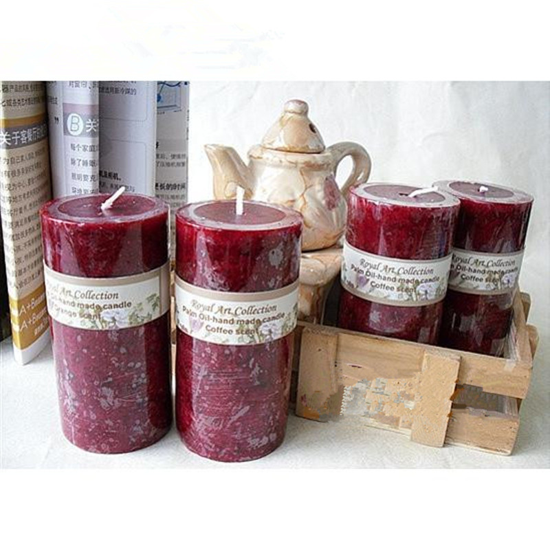 5x10cm rose color scent candles flower scented candles for How to scent candles