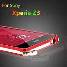 Для Xperia Z3 fundas Dropproof Рамка Роскошный Алюминиевый Бампер Для Sony Xperia Z3 D6603 D6633 противоударный чехол TX