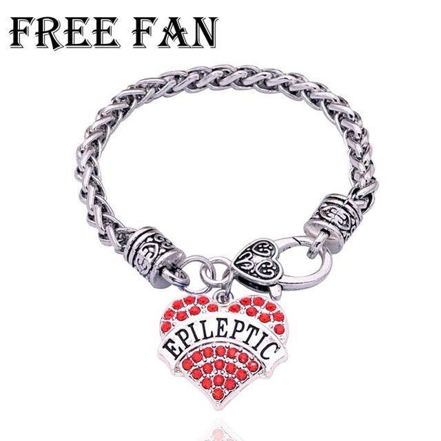 Medical Alert Bracelets >> Free Fan Vintage Epileptic Awareness Medical Alert Bracelet Fashion