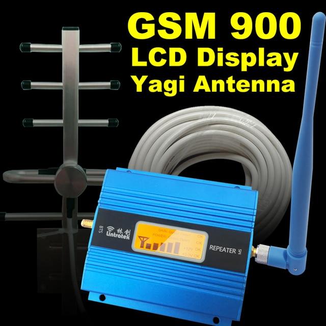 Display LCD GSM 900 Mhz Telefone Celular Amplificador de Sinal Celular Impulsionador GSM 900 Repetidor De Sinal de Telefone Celular Antena Set Para casa
