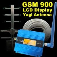 LCD Ekran GSM 900 Mhz Cep Telefonu Sinyal Booster Hücresel GSM 900 Sinyal Tekrarlayıcı Cep Telefonu Amplifikatör Anten Için Set ev