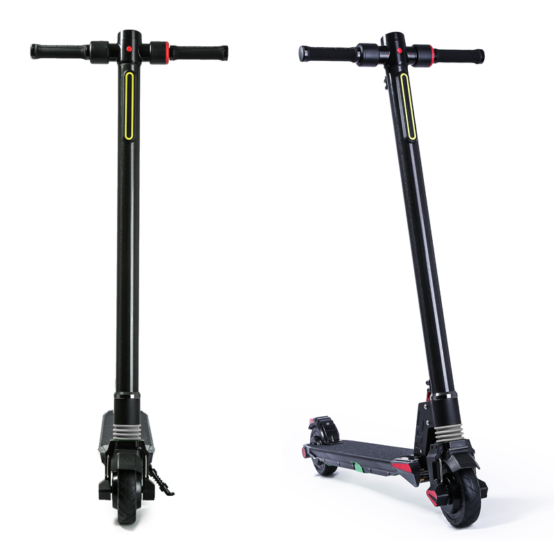Best Dual Motors 2018 New Carbon Fiber Folding Electric Scooter Scooter Skateboard Bicycle Kick Scooter Powerful Electric Bicycle 13
