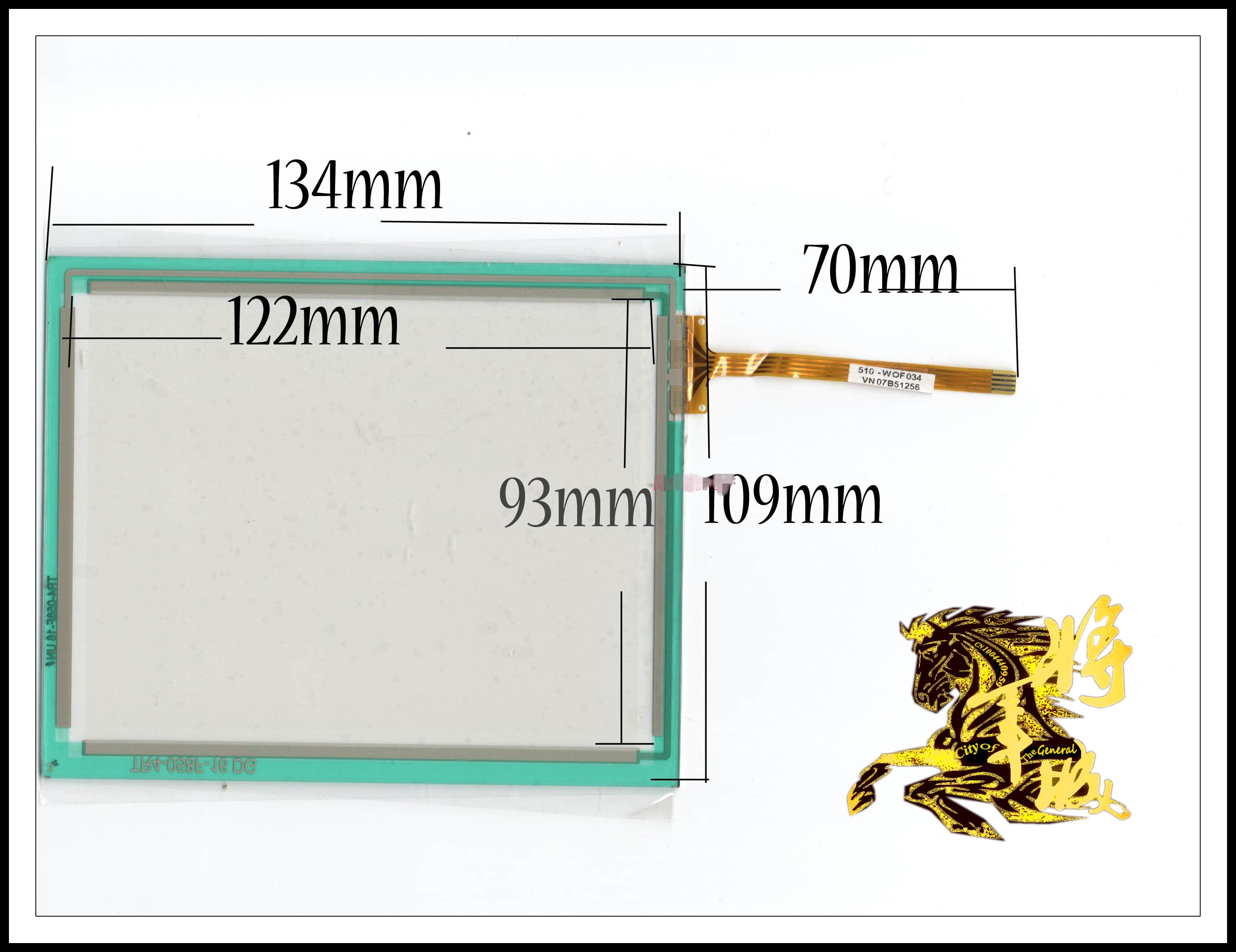 GENCTY For 6-inch four-wire resistive touch screen W-X