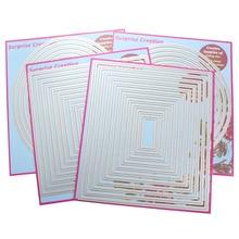 4-Set большие режущие штампы Прямоугольник квадратный круг и Овальный кардмейинг и Скрапбукинг DIY трафарет
