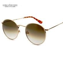 576df5971b5f5 Clássico Lente De Vidro Redonda De Metal Retro pequenos Óculos De Sol apto  pequeno face adolescente dos homens e mulheres Óculos.