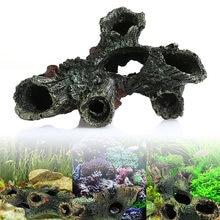 Decoração do aquário tronco bole driftwood tanque de peixes resina ornamentos subaquáticos z07 transporte da gota