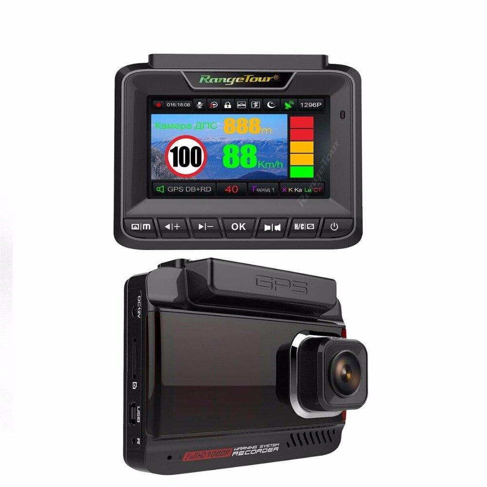 2018 Новый Антирадары для России 3 в 1 автомобиль детектор gps видео Регистраторы DVR 1296 P супер Ночное видение Анти радар для автомобиля