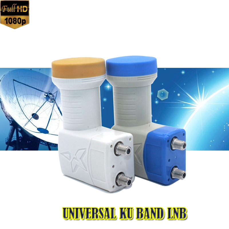 Hight quality penuh HD DIGITAL KU-BAND Universal twin LNB Satellite LNB satellite receiver lnb universal ku lnb