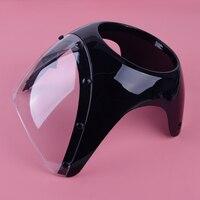 DWCX Motorcycle 17cm Cafe Racer Headlight Fairing Screen Retro Drag Racing Light Fairing Windshield