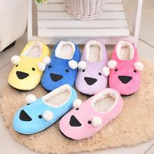 Cute Cartoon  Home Slippers Candy Color  Plush Indoor Shoes  Warm Winter Slippers Floor Socks  Women And Men Slippers