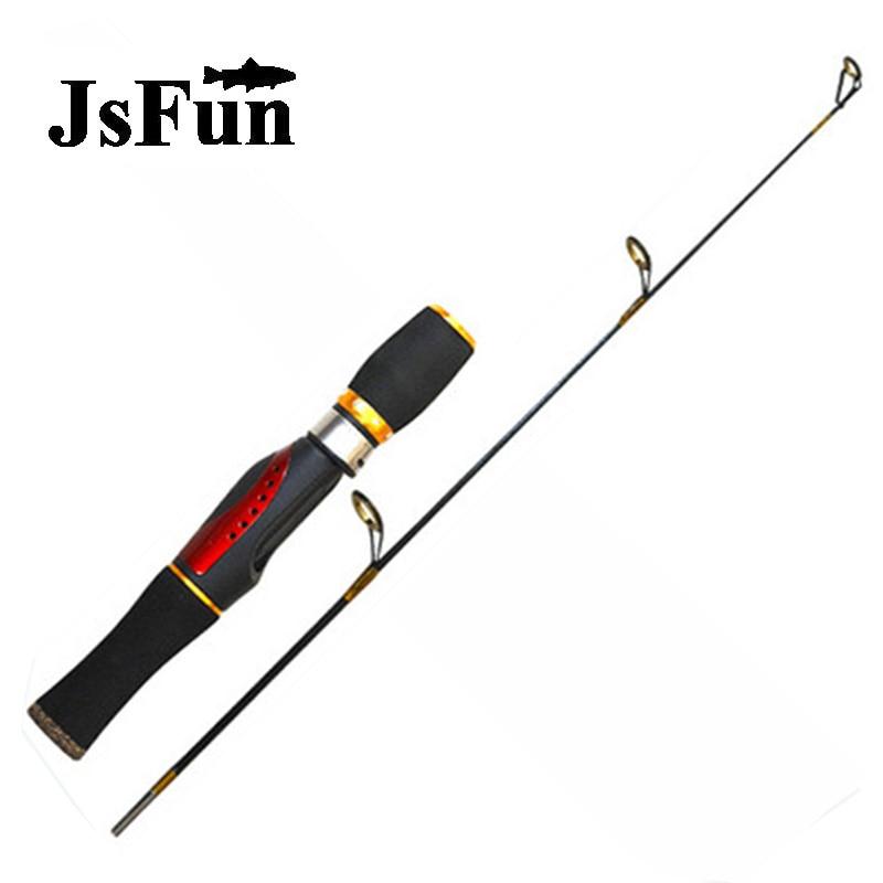 JSFUN Ice Fishing Rod 94g Winter Fishing Rod 66cm Mini Rod 2 Section High Quality Carbon River Lake Fishing Pole fg1015