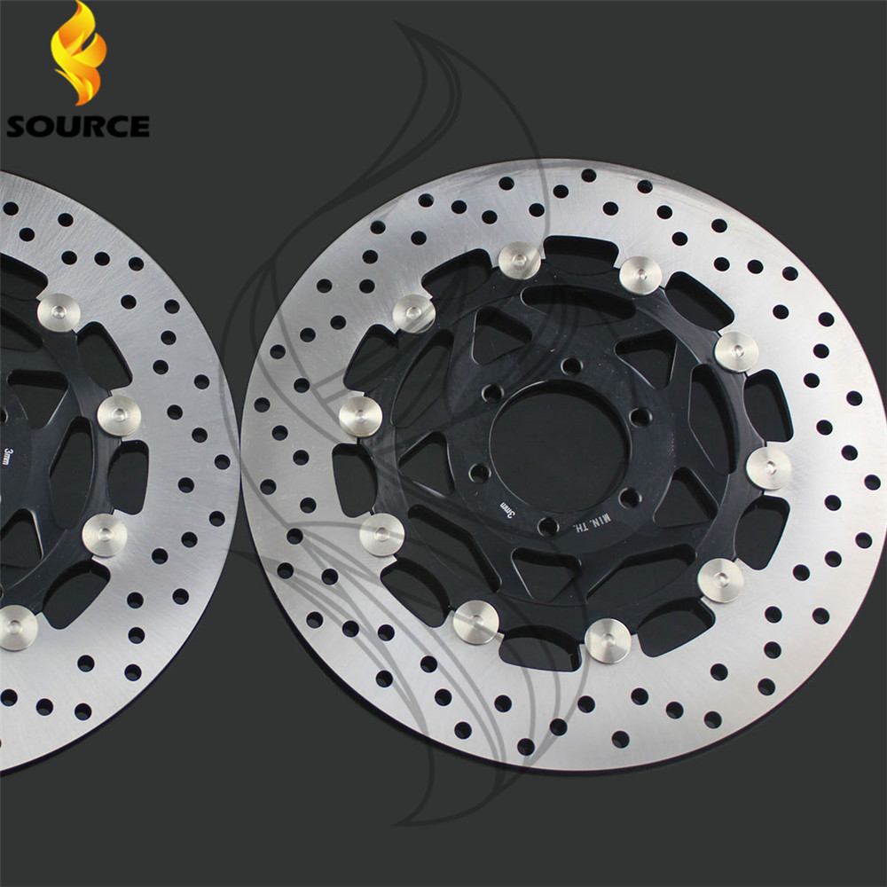 hot selling motorcycle accessories Front Brake Disc Rotor For YAMAHA FZR400 1988 1989 1990 1991 1992 1993 1994 1995 motorcycle front and rear brake pads for yamaha fzr 400 fzr400 u suc w swc 1988 1989 black brake disc pad