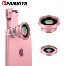 FANBIYA Phone Camera Lens Kit for iphone 7 6s Smartphone 0.65x Wide Angle & 10x Macro Lenses Universal Photograpy for samsung s7
