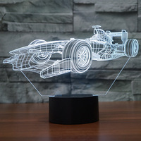 Creative Racing Car 3d Led Table Lamp For Bedroom Children's room decoration 3D night light 7 color change Desk Lamp