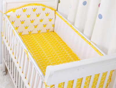 ФОТО Promotion! 5PCS Mesh For Girl Boys Bedding Set Kids Baby Bed Bumper Baby Crib Bumper Baby Cot Set ,(4bumpers+sheet)