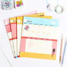 Cute cartoon English series person desk planner memo pad stationery,candy weekly planner time organizer note pad