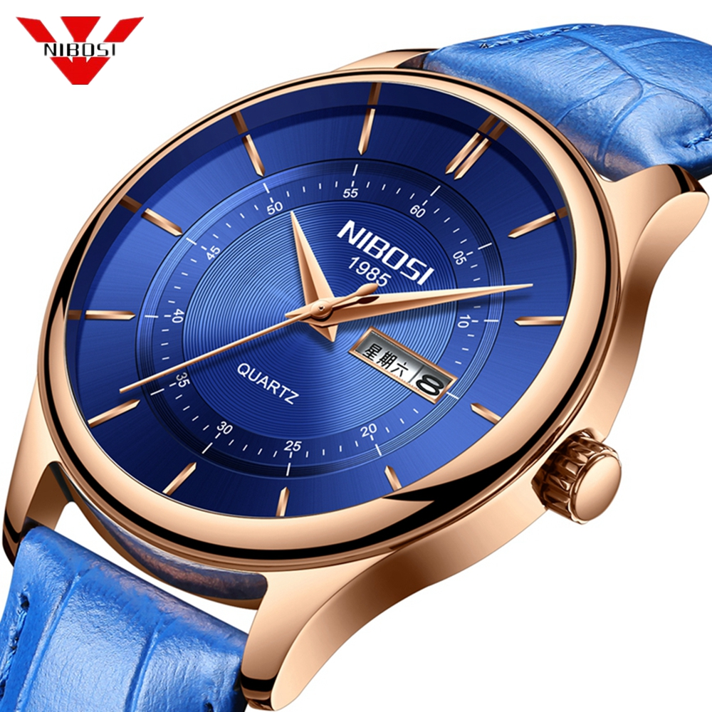 Nibosi 2019 Men Watch Male Leather Automatic date Quartz Watches Mens Luxury Brand Waterproof Sport Clock Relogio MasculinoNibosi 2019 Men Watch Male Leather Automatic date Quartz Watches Mens Luxury Brand Waterproof Sport Clock Relogio Masculino