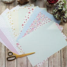 30 sheets/lot 21*29.7cm DIY warn flower garden pattern wrapping paper creative craft handmade scrapbooking decoration