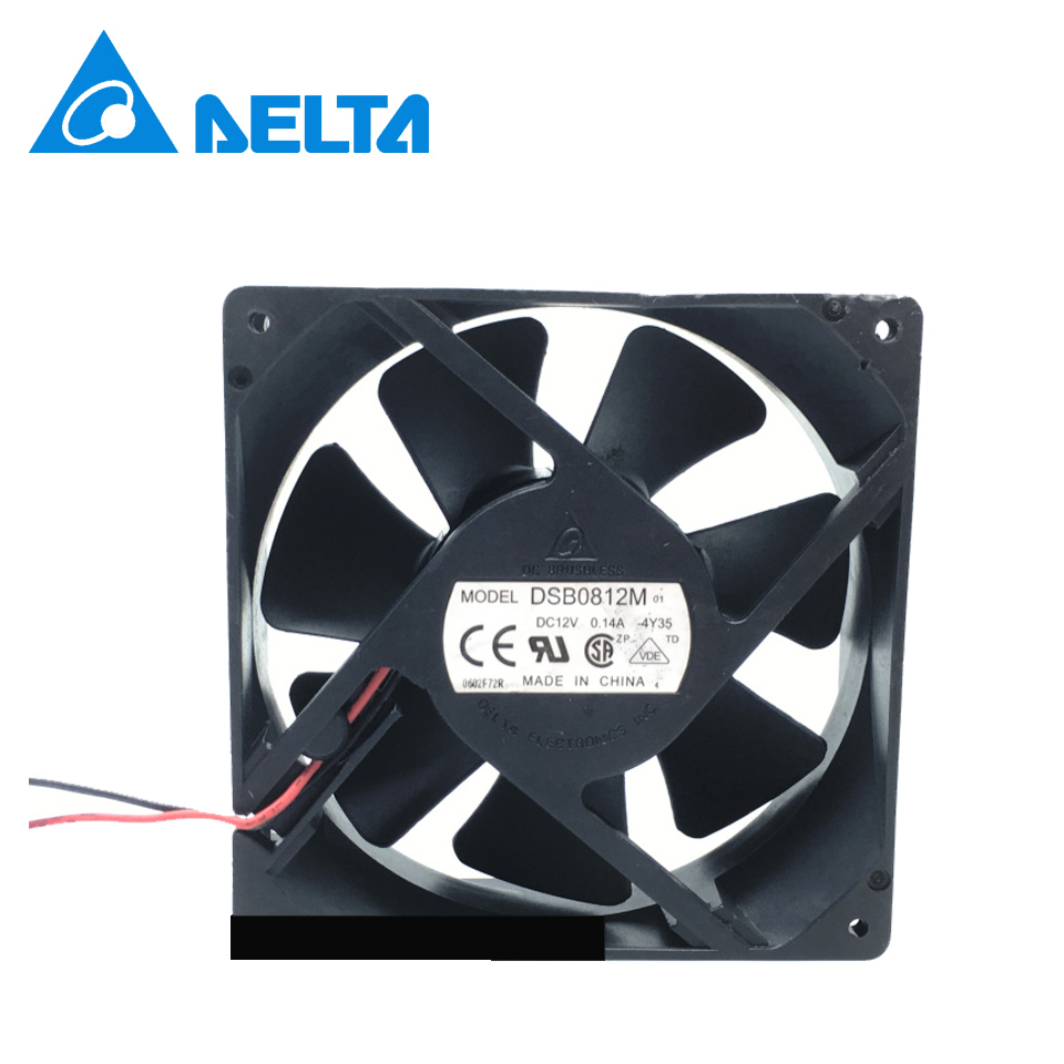 DELTA DSB0812M 80*80*25MM 12V 0.14A 8CM 2Pin Cooling Fan