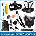 Gopro Acessórios Peito Cabeça Alça de Mão Monopé Floating Bobber Montar para hero 4 xiaomi yi action camera sj4000 sjcam eken H9