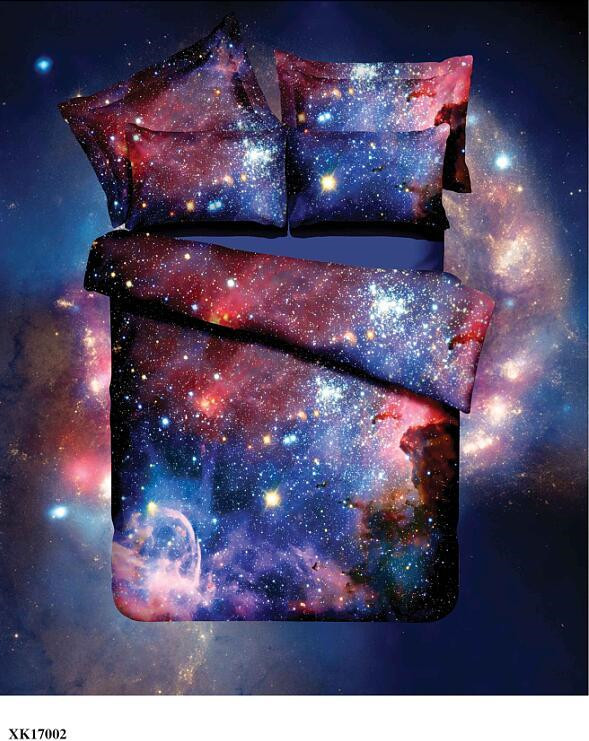 Hot 3d Galaxy bedding sets Twin/Queen Size Universe Outer Space Themed Bedspread 2/3/4pcs Bed Linen Bed Sheets Duvet Cover Set 50