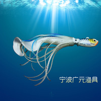 Fishing lures Weight:50g Squid type Artificial Bait Fishing tackle Noctilucent Lead head Hook Fresh/Salt Water Fishing Tool