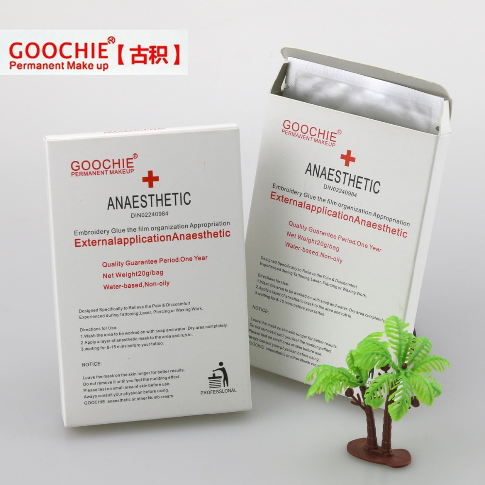 Goochie Anesthetic Tattoo & Permanent Makeup Anesthetic Topical Operation Painless Lip Gel Patch10pcs/lot