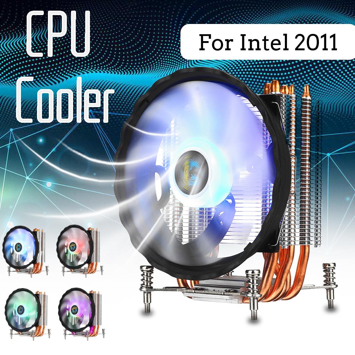RGB 6 Cobre Heatpipes Cooler Ventilador Silencioso 120 milímetros CPU Ventilador de Refrigeração Do Radiador Do Dissipador de Calor para Intel 2011 para Aurora luzes