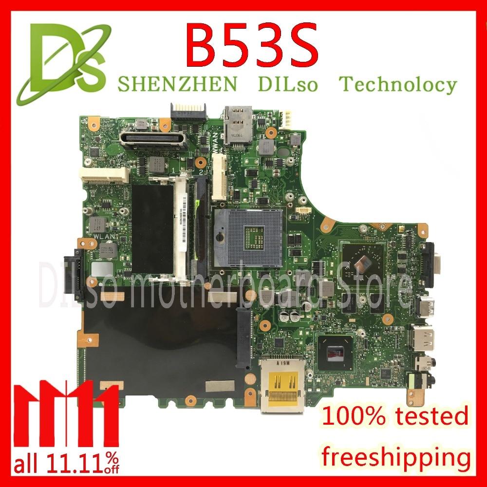 KEFU B53S mainboard For ASUS B53 B53S B53F B53J laptop motherboard Test work 100% original kefu g46vw for asus g46v n13e ge a2 mainboard rev 2 2 laptop motherboard 60 nmmmb1100 e02 test work 100%