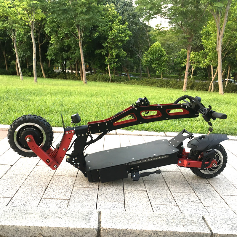 FLJ Newest Design Foldable Electric Scooter for Adults with 3200W motor wheel electric scooter off road fat tire kick Scooter 4