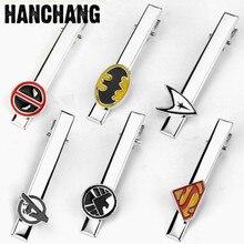 Movie Deedpool Superhero Star Trek Batman  God shield Bureau agent Tie Clip Enamel Cosplay Tie Pins Men's Shirt  Jewelry