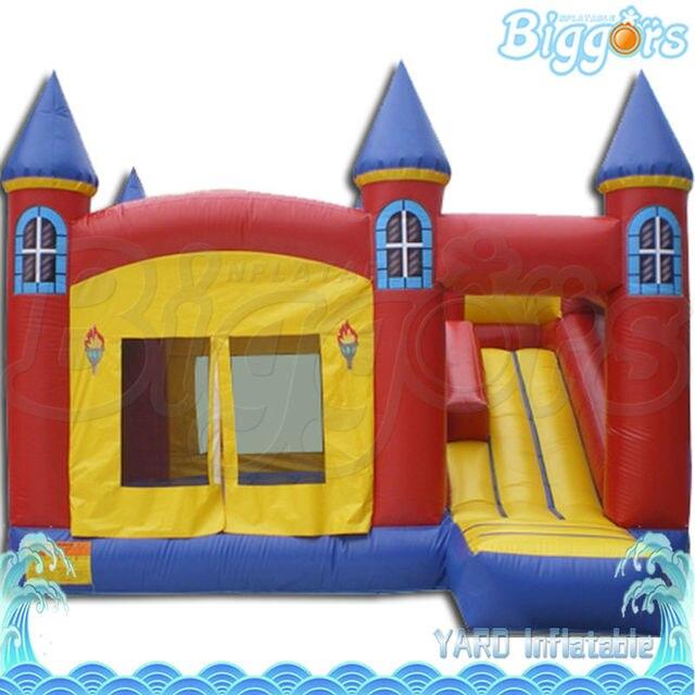 Горячие Популярных Надувные Прыжки Надувной Замок С Горкой Для Детей Прокат