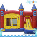 Hot Popular Inflatable Jumping Bouncy Castle With Slide For Kids Rental