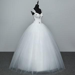 Image 3 - Real Photo Wedding Dress 2020 Hot Koop Applicue Eenvoudige Lace Goedkope Wedding Gown Met Kralen Vestido De Noiva Geïmporteerd china