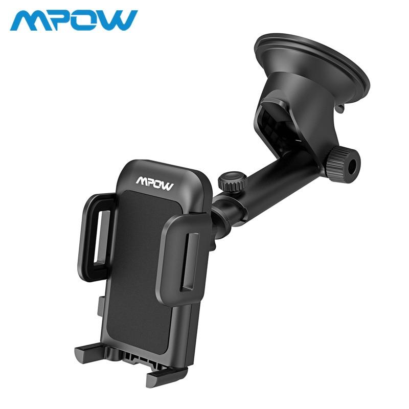 55cbc9d8a60 Mpow CA032 2nd versión del teléfono del coche soporte salpicadero ajustable teléfono  móvil montaje con lavable pegajosa Pad de rotación de 360 grados en ...