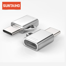 Suntaiho USB C 3.1 OTG Converter,Micro USB To Type-C 3.1 Adapter with Chain For Samsung S9 S8 Huawei P20 P10 Macbook Xiaomi 4 5