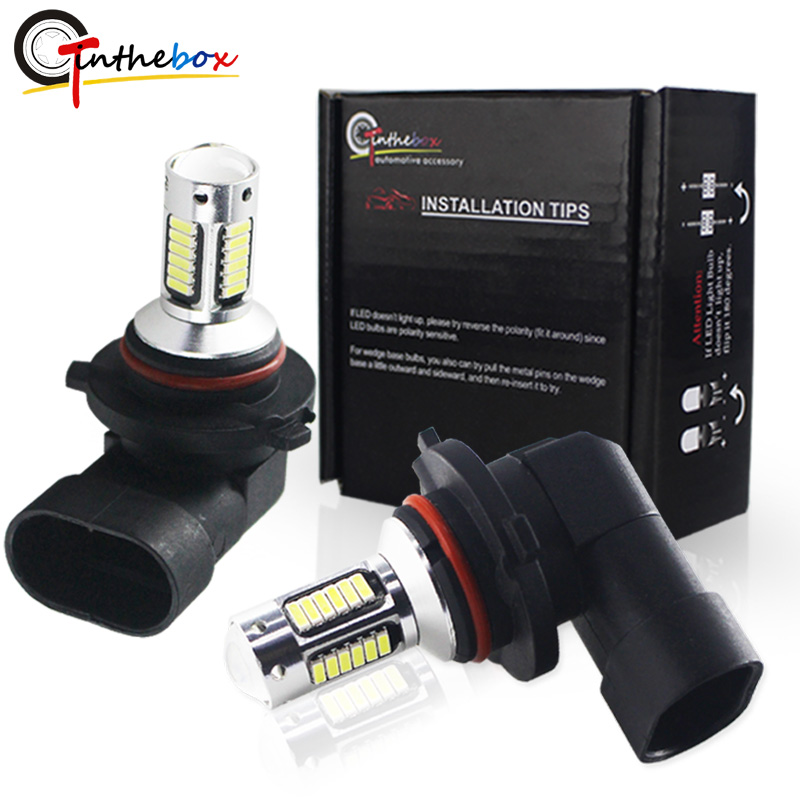 Gtinthebox H8 H11 Led HB4 9006 HB3 9005 Fog Lights Bulb White Red Blue yellow Car Driving Daytime Running Lamp Auto Leds Light 2pcs 12v 24v h8 h11 led hb4 9006 hb3 9005 fog lights bulb 1200lm 6000k white car driving daytime running lamp auto leds light