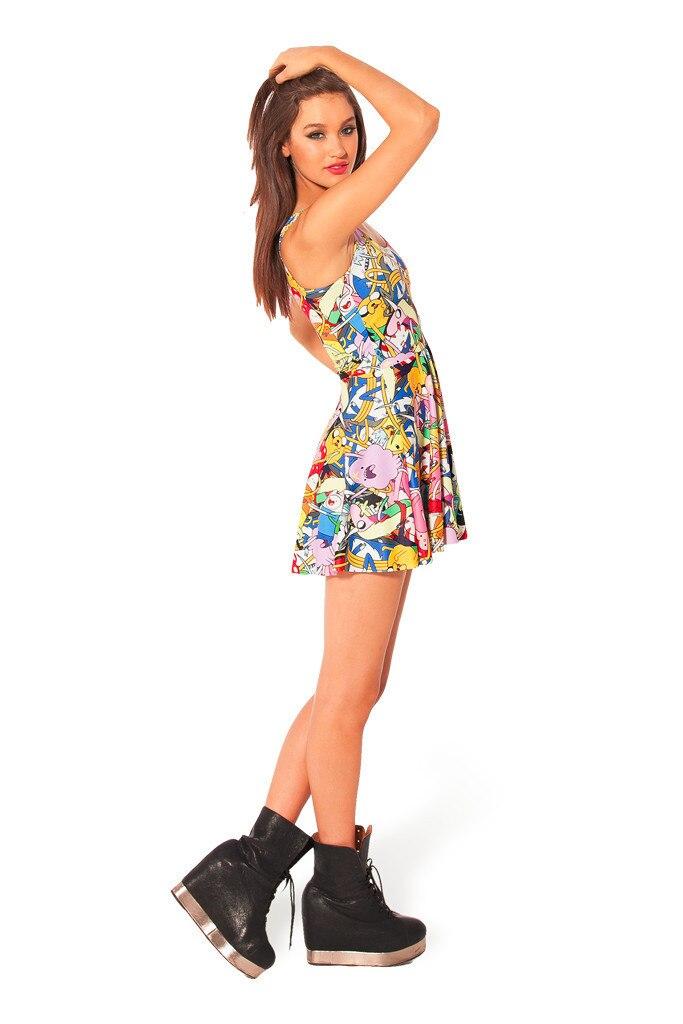 Summer Dress New Fashion Cartoon Adventure Time Dress Casual Summer