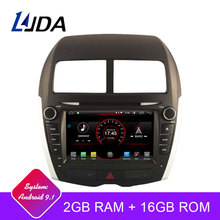 LJDA Android 9,1 автомобильный dvd-плеер для Mitsubishi ASX peugeot 4008 2010-2015 gps Navi 2Din автомобильный радиоприемник 2G ram стерео аудио мультимедиа