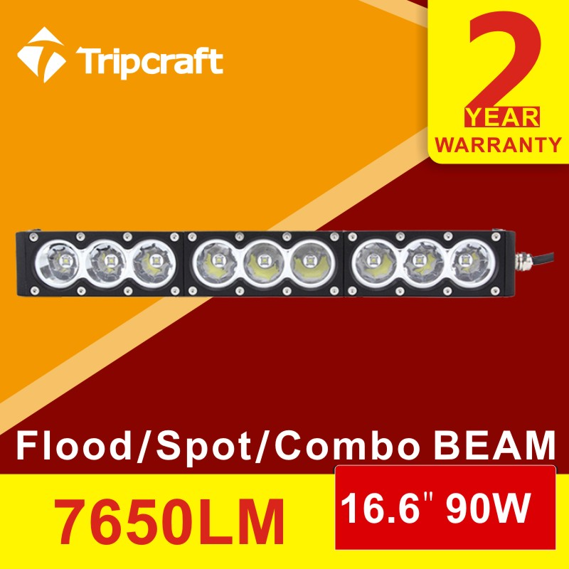 16.6INCH 90W led light bar waterproof offroad motorcyle boat truck SUV UTE UTV 4WD 4X4 ATV 12V 24V spot flood fog lamp headlight