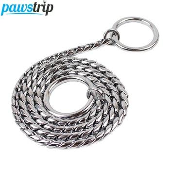 6 Size Durable Copper Dog Leash Outdoor Walking Training Snak Chain Dog Collar XS-XXL 1