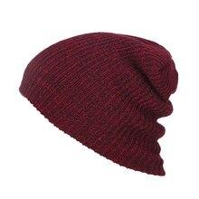 Plain Beanie Hats Winter Cap Slouchy Hat Knit Winter Custom Men Girls Multicolor L4