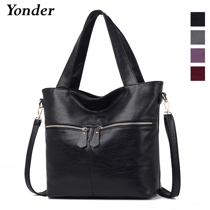 Yonder women crossbody bag ladies tote bag large capacity handbag genuine leather shoulder bag high quality Sheepskin Black/WineYonder women crossbody bag ladies tote bag large capacity handbag genuine leather shoulder bag high quality Sheepskin Black/Wine