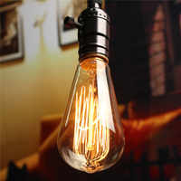 Smuxi 2Pcs E27 60W Vintage Retro Edison Bulbs Spiral Light Handmade Glass Industrial Style Tungsten Bulb Pendant Lamps Lighting