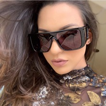 New Fashion Square Shield Style Sunglasses Women Men Cool Si
