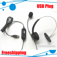 USB connector Telephone headset 5pcs/lot DHL freeshipping